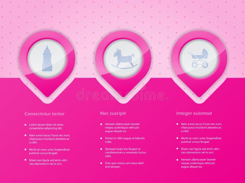 Diseño de Infographic con los iconos del bebé libre illustration
