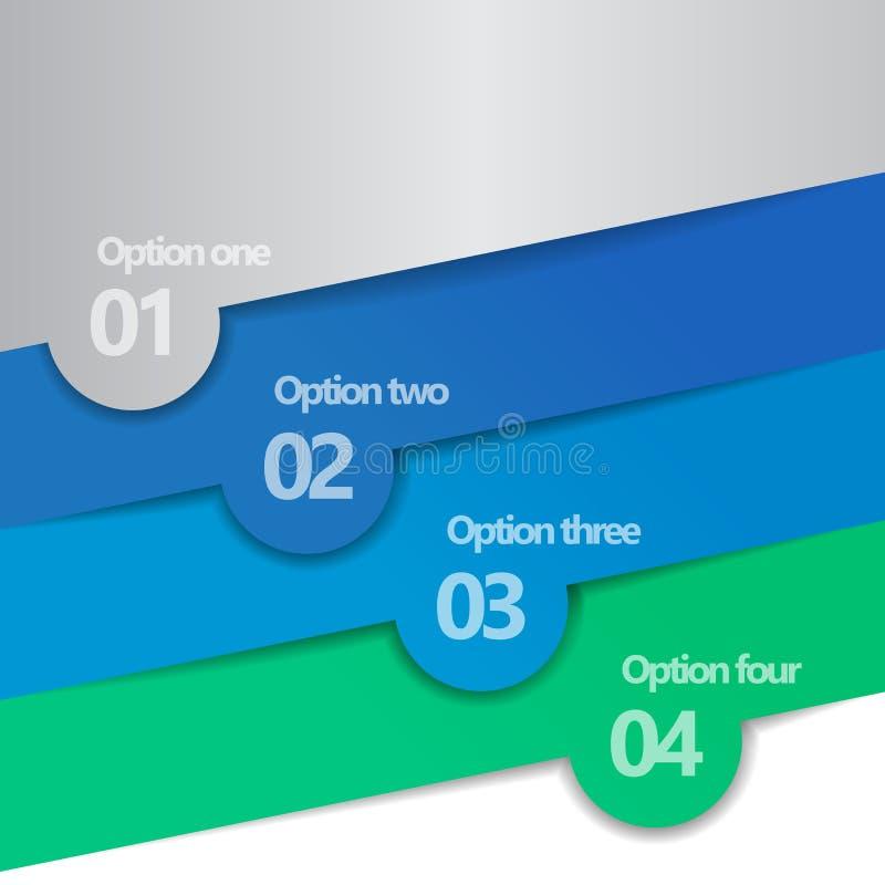 Diseño de Infographic de cuatro opciones ilustración del vector
