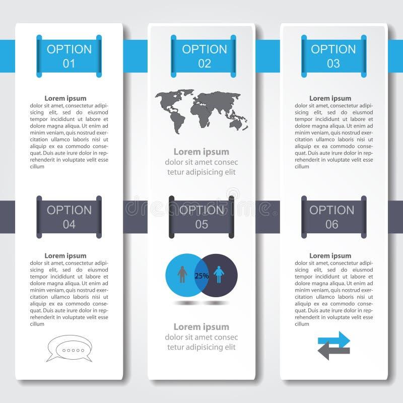 Diseño de Infographic en el fondo gris Fichero del vector del EPS 10 stock de ilustración