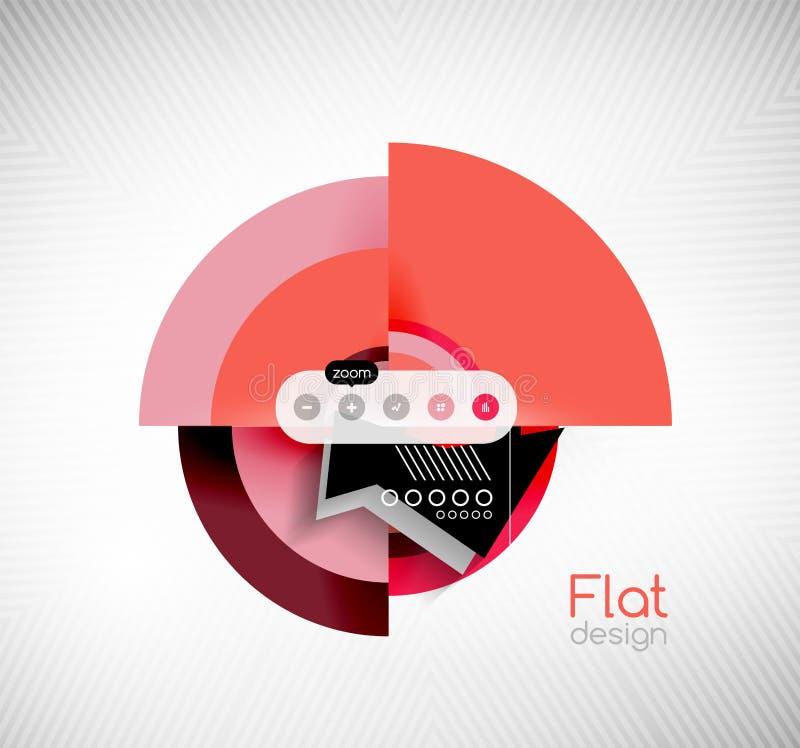Diseño de interfaz plano de las formas geométricas del círculo libre illustration