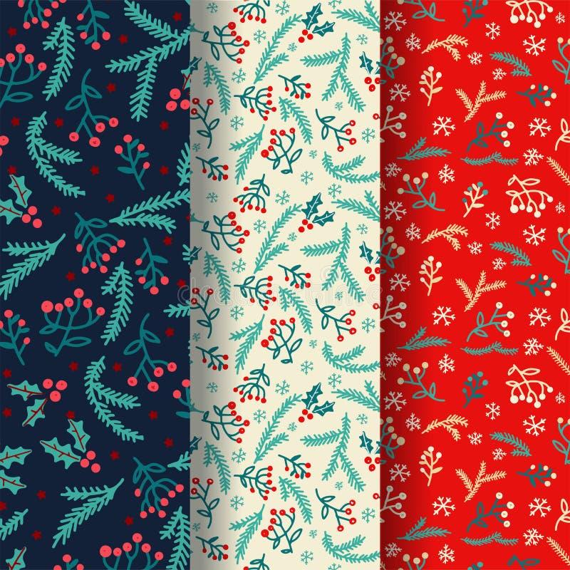Diseño de invierno con elementos decorativos de invierno Diseño de vectores Fondo con doodles dibujados a mano Decoración de vaca ilustración del vector