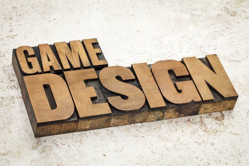 Diseño de juego fotografía de archivo libre de regalías