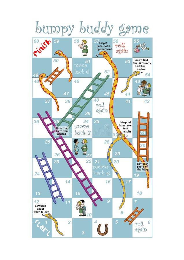 Juego de las serpientes y de las escaleras para los hospitales ilustración del vector