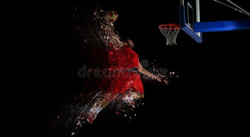 Diseño de jugador de básquet en la acción foto de archivo libre de regalías