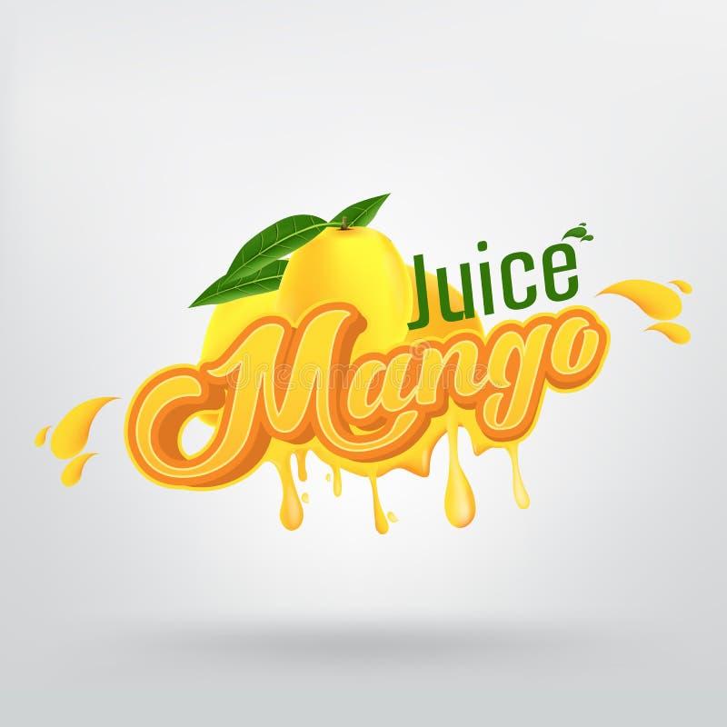 Diseño de Juice Brand Company Vector Logo del mango stock de ilustración