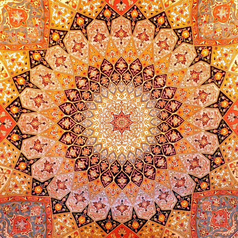 Diseño de la alfombra persa foto de archivo libre de regalías