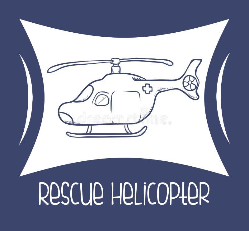 Download Diseño De La Asistencia Médica Ilustración del Vector - Ilustración de paciente, helicóptero: 64201443