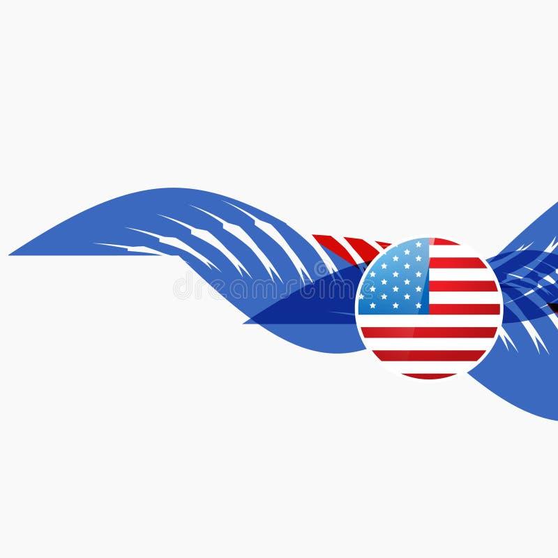 Download Diseño De La Bandera Americana Ilustración del Vector - Ilustración de conmemorativo, americano: 41919052