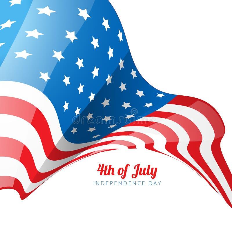 Download Diseño De La Bandera Americana Ilustración del Vector - Ilustración de holiday, fondo: 41919132