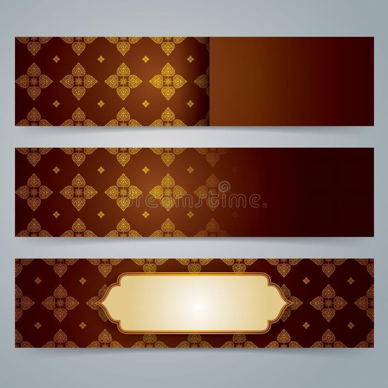Diseño de la bandera de la colección, fondo asiático del arte libre illustration