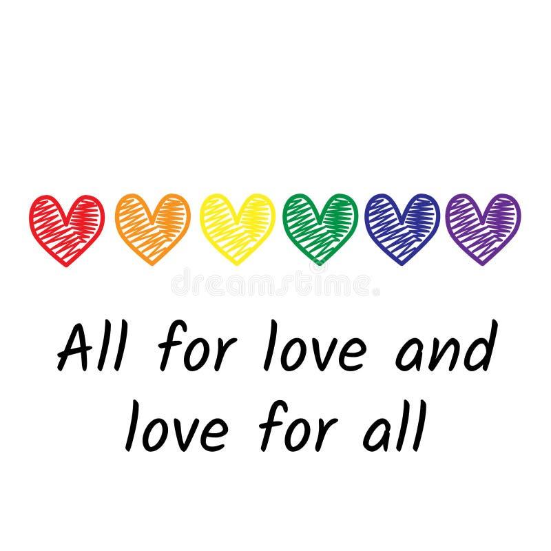Diseño de la bandera del día del orgullo con color del arco iris ilustración del vector