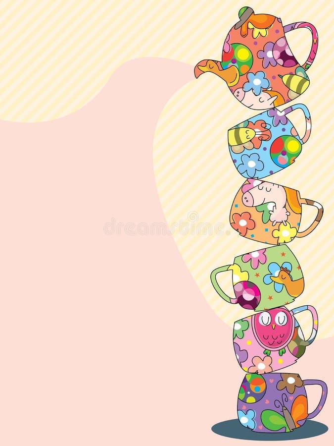 Diseño de la bebida stock de ilustración