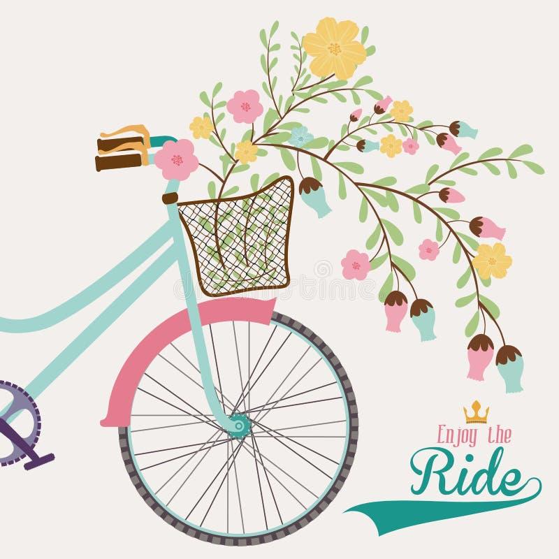 Diseño de la bici ilustración del vector