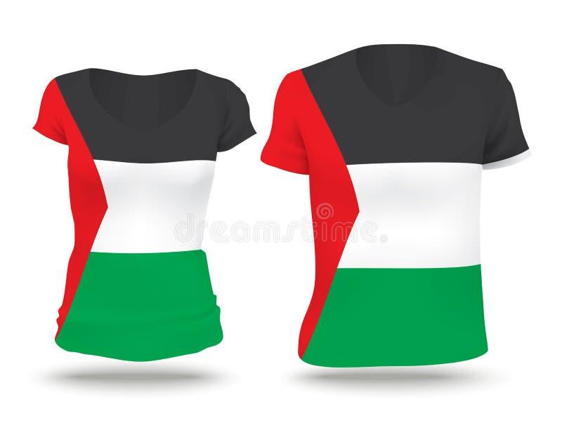Diseño de la camisa de la bandera de Franja de Gaza  stock de ilustración