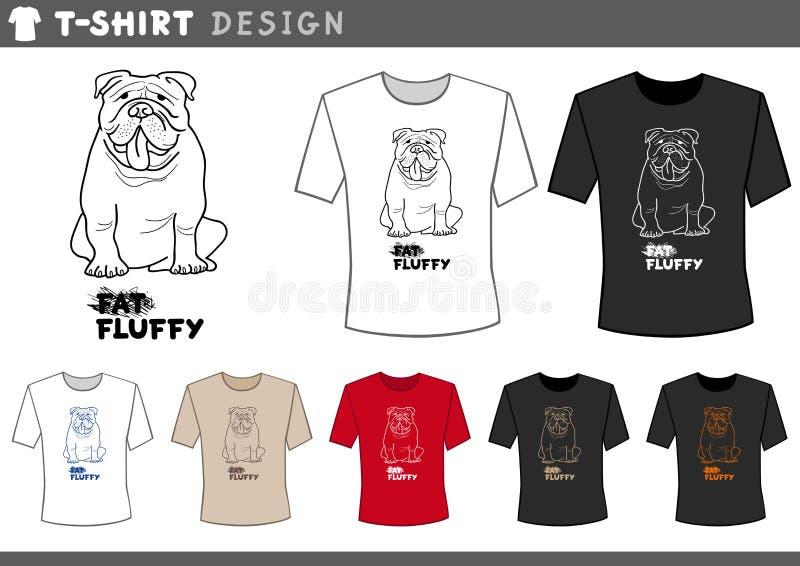 Diseño de la camiseta con el dogo ilustración del vector