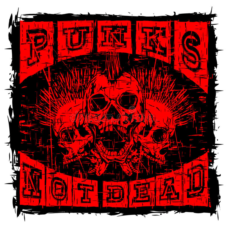 Diseño de la camiseta del punk rock libre illustration