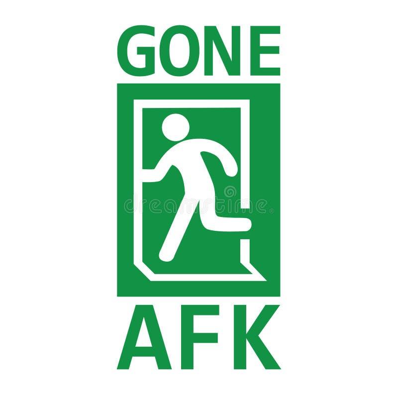 Diseño de la camiseta del vector para los videojugadores con el ` del ` AFK de la palabra Es la abreviatura del ` lejos del ` de  stock de ilustración