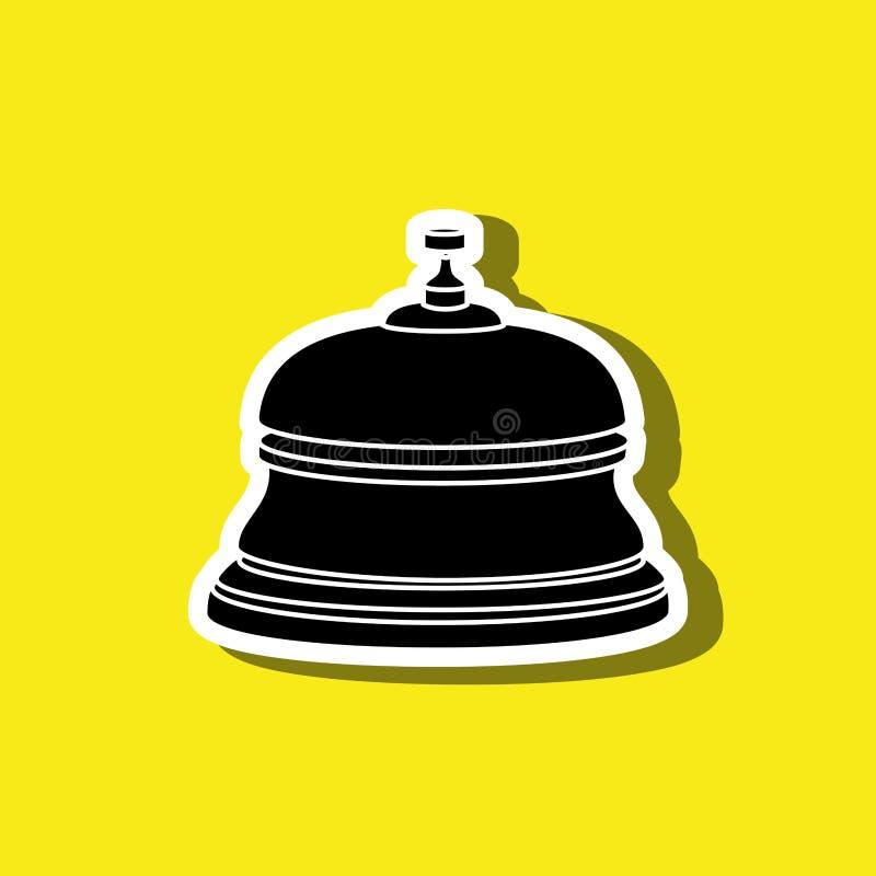 diseño de la campana del hotel ilustración del vector