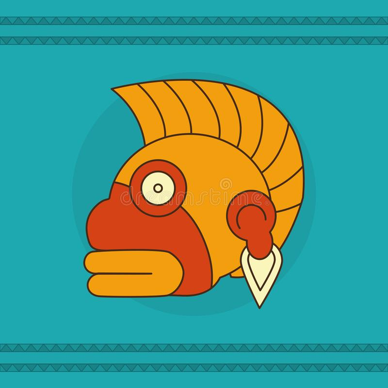 Diseño de la cara del maya libre illustration