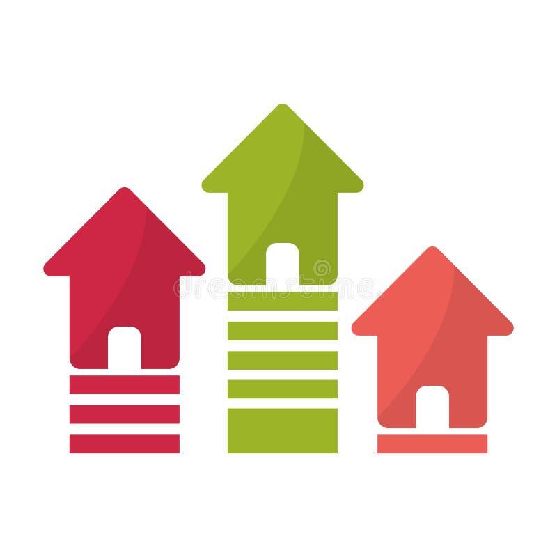 diseño de la casa y del hogar stock de ilustración
