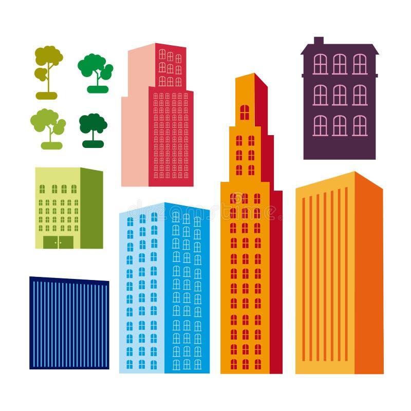 Diseño de la ciudad stock de ilustración