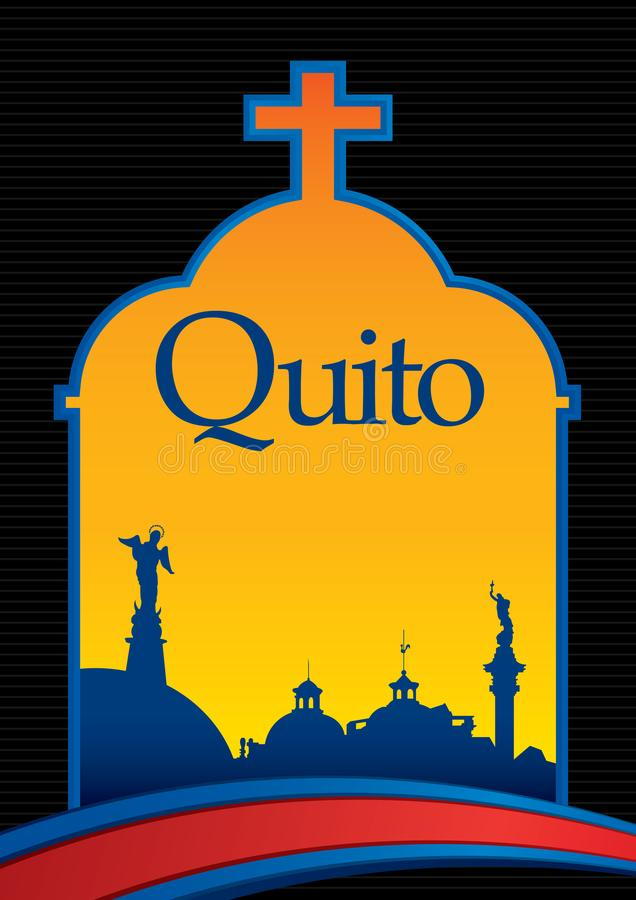 Diseño De La Ciudad De QUITO Con La Ciudad De La Bandera Azul Y Roja ...