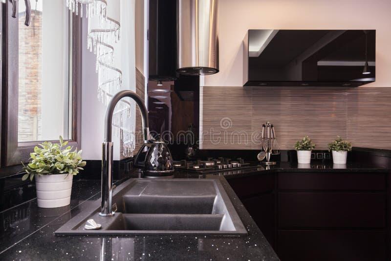 Diseño de la cocina del brocado foto de archivo