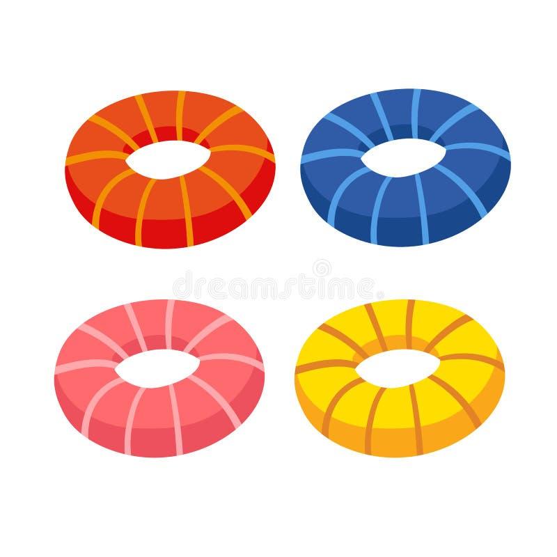 Diseño de la colección del vector del anillo de vida ilustración del vector