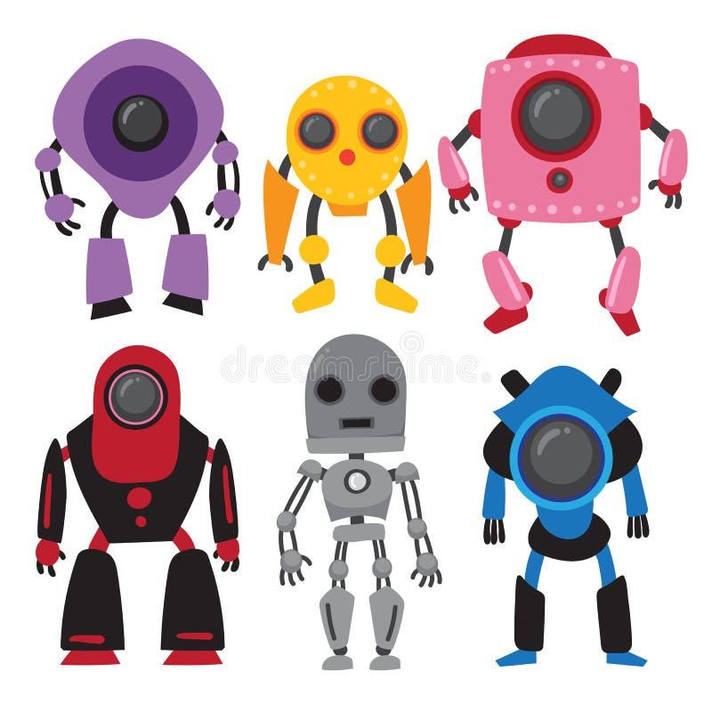 Diseño de la colección del vector de los robots libre illustration