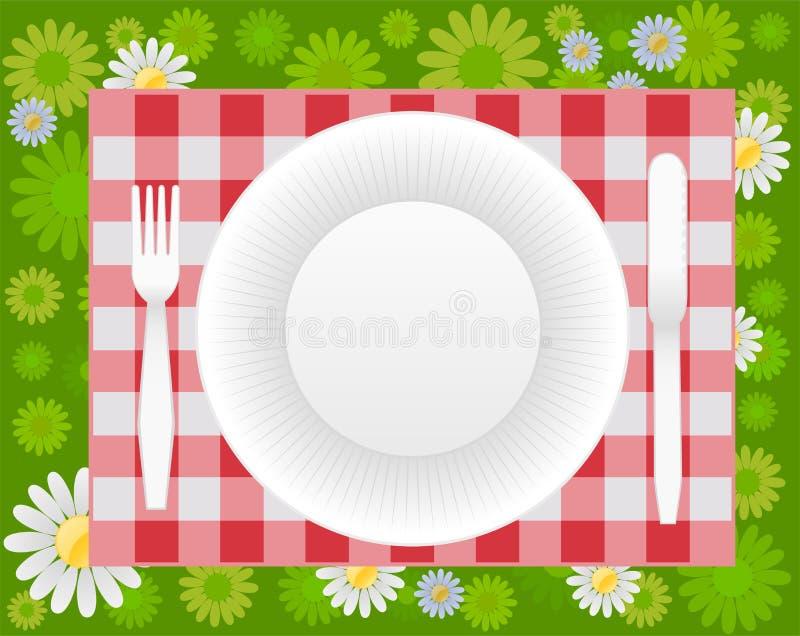 Diseño de la comida campestre del verano libre illustration