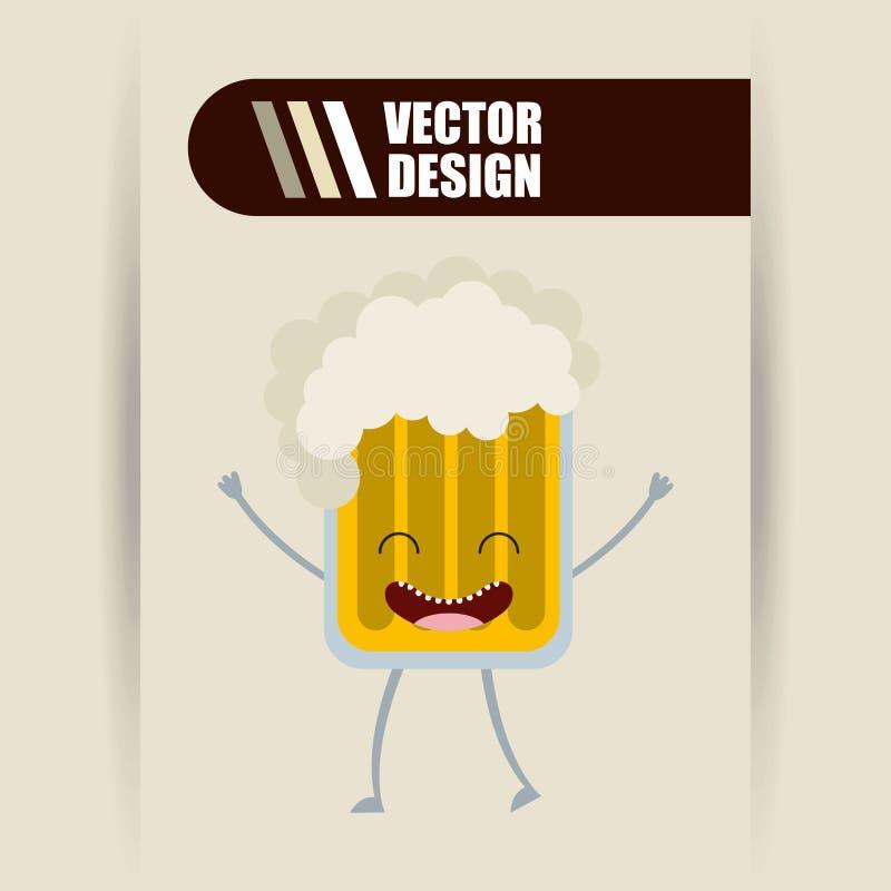 diseño de la comida del carácter stock de ilustración