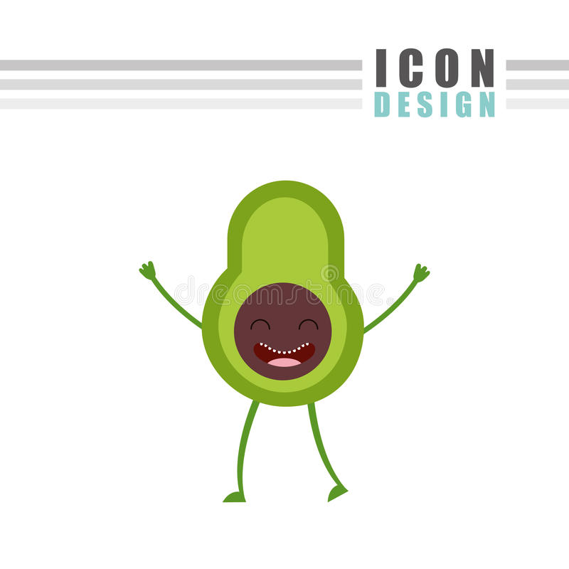 diseño de la comida del carácter libre illustration