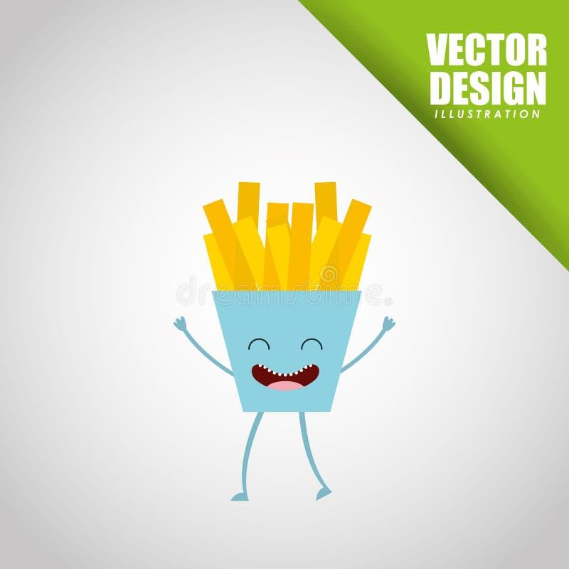diseño de la comida del carácter ilustración del vector