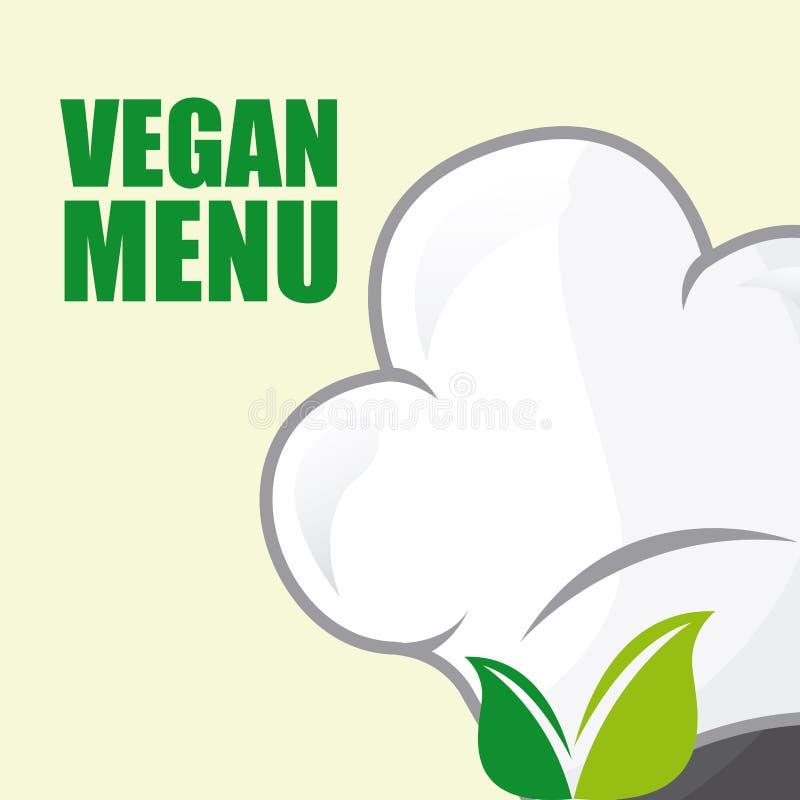 Diseño de la comida del vegano ilustración del vector