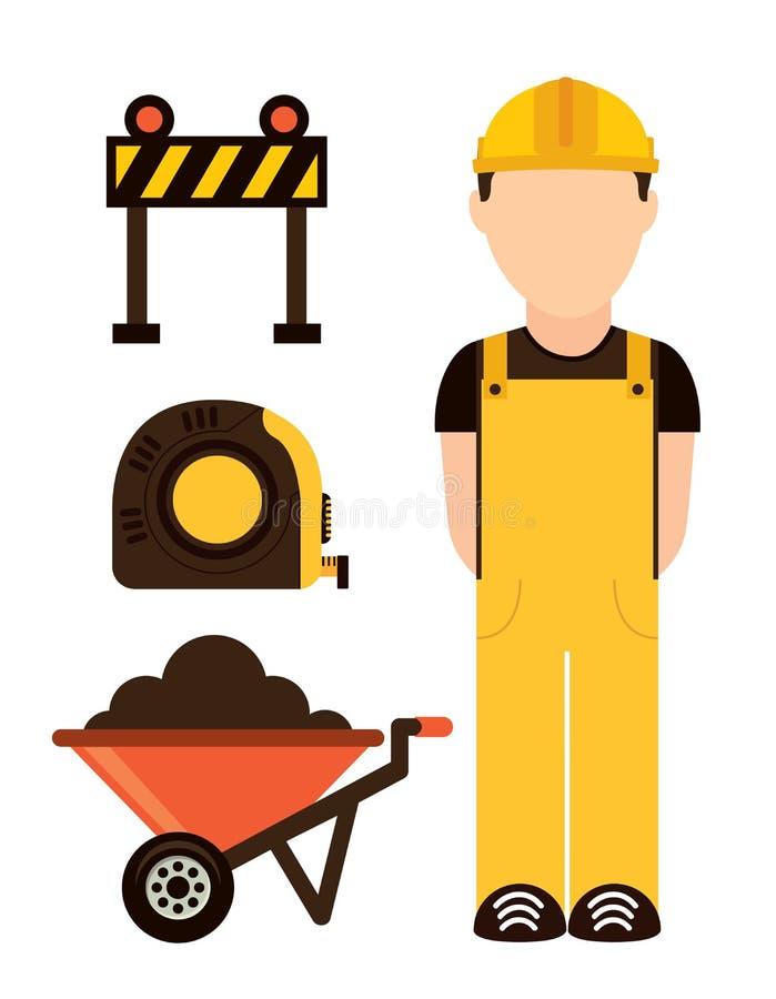 Download Diseño de la construcción ilustración del vector. Ilustración de reconstrucción - 42427738