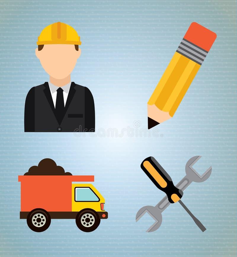 Download Diseño de la construcción ilustración del vector. Ilustración de iconos - 42427764