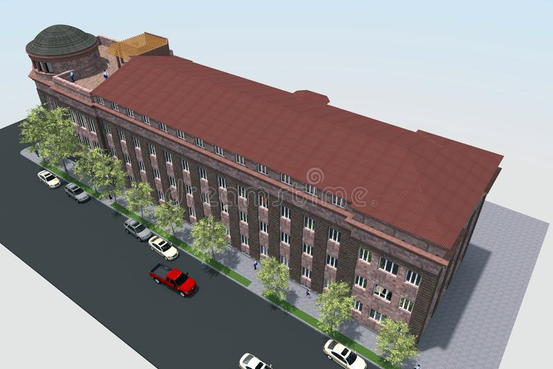 Diseño de la construcción de viviendas 3D imágenes de archivo libres de regalías