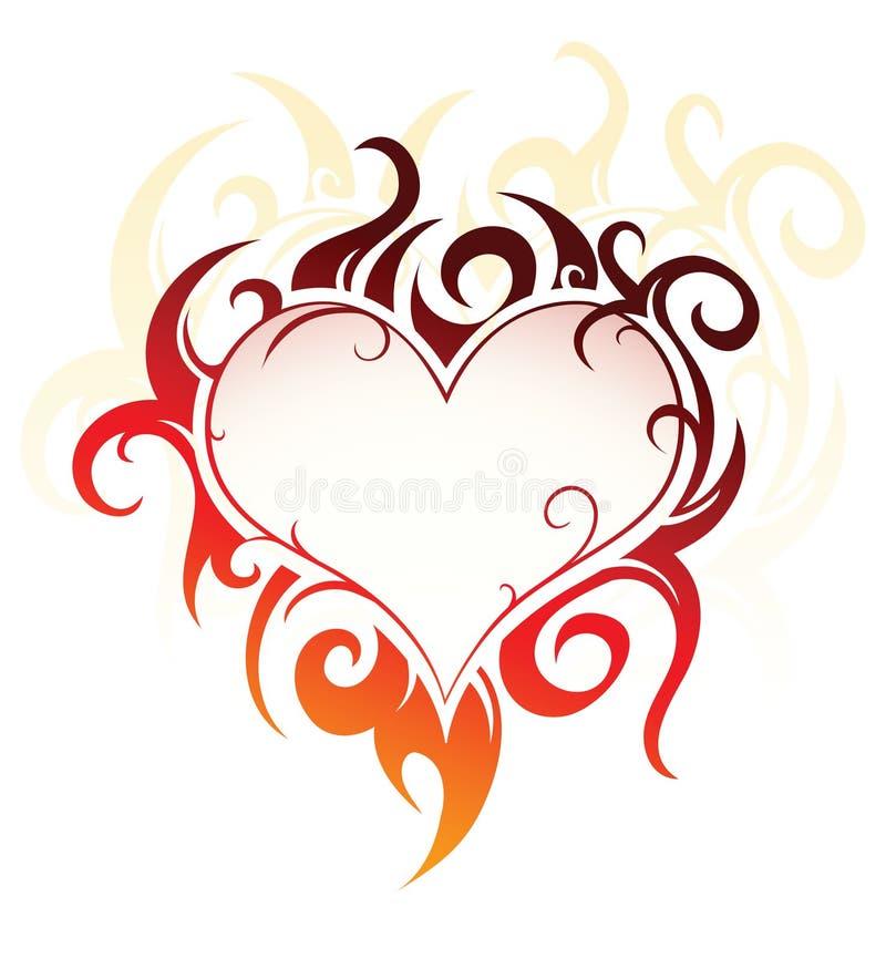diseño de la Corazón-dimensión de una variable libre illustration
