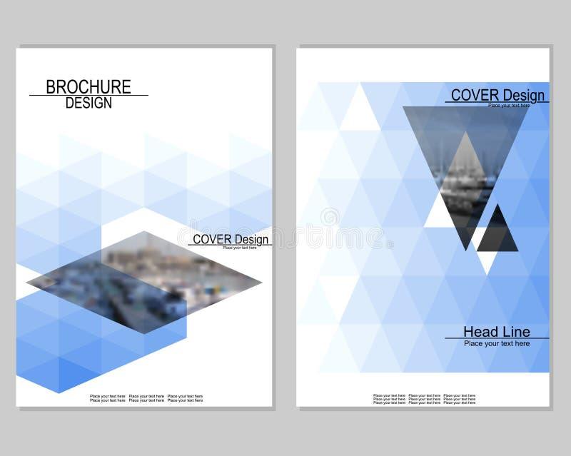 Diseño de la cubierta del folleto ilustración del vector