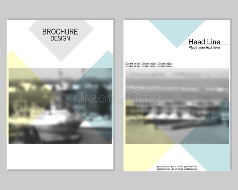 Diseño de la cubierta del folleto libre illustration