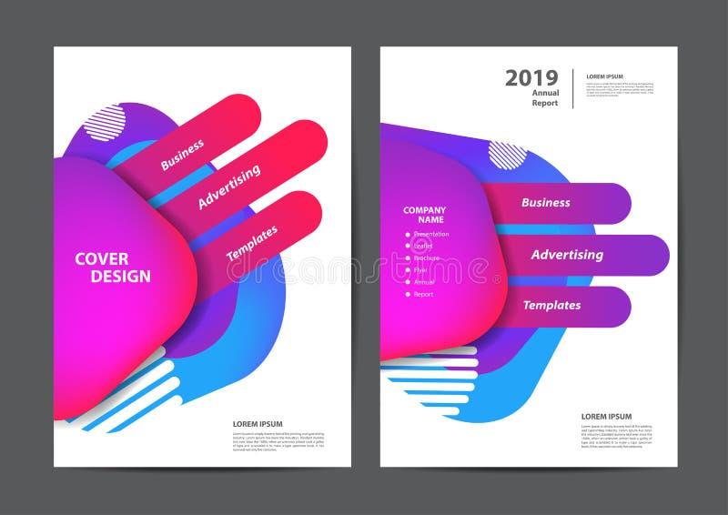Diseño de la cubierta del folleto del folleto del aviador del cartel ilustración del vector