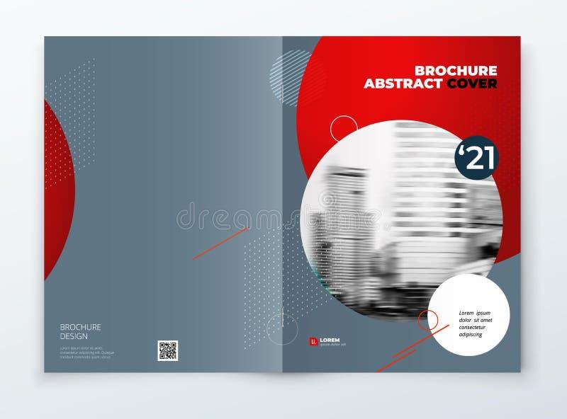 Diseño de la cubierta del folleto Folleto azul de la plantilla de la cubierta del rectángulo del negocio corporativo, informe, ca ilustración del vector