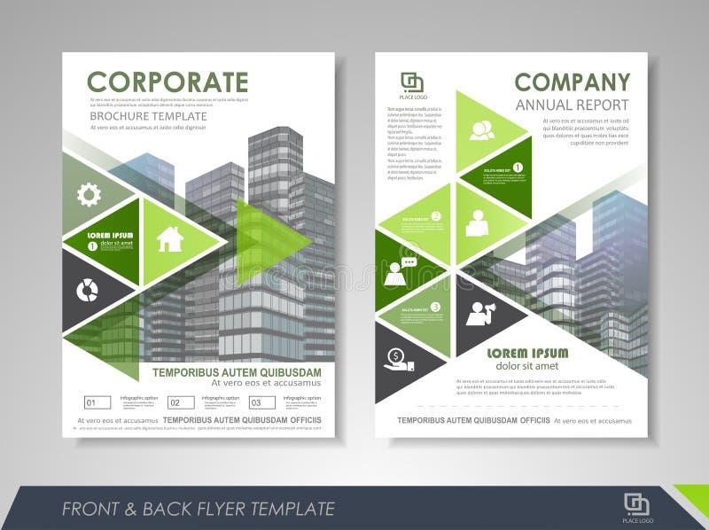 Diseño de la cubierta del folleto del negocio stock de ilustración