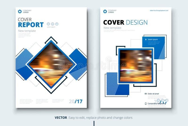Diseño de la cubierta, del folleto o del aviador del informe anual del negocio corporativo Presentación del prospecto Catálogo co ilustración del vector