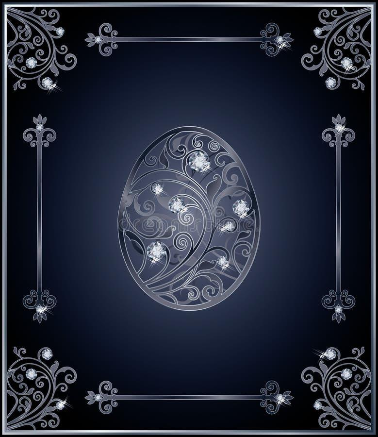 Diseño de la cubierta del huevo de Diamond Easter ilustración del vector