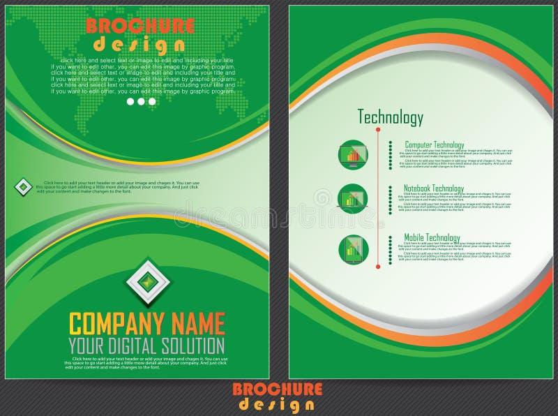 Diseño de la cubierta del informe de negocios ilustración del vector