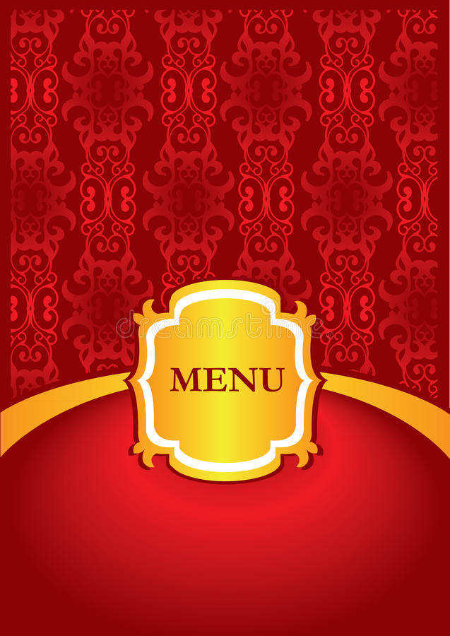 Diseño de la cubierta del menú stock de ilustración