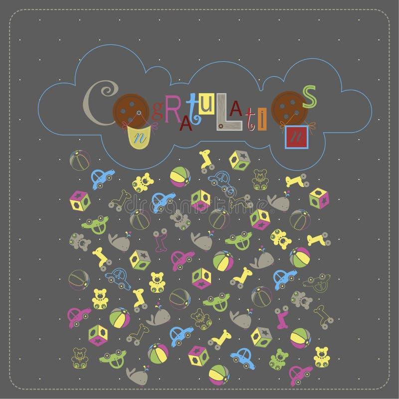Diseño de la cubierta para la tarjeta de felicitación stock de ilustración