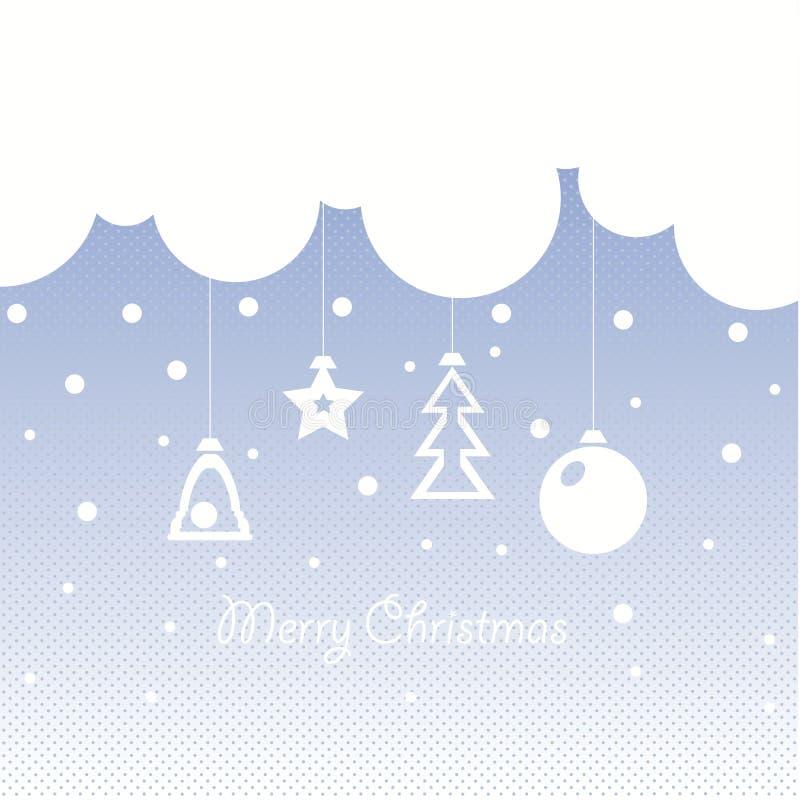 Diseño de la cubierta para las tarjetas de felicitación de la Navidad libre illustration
