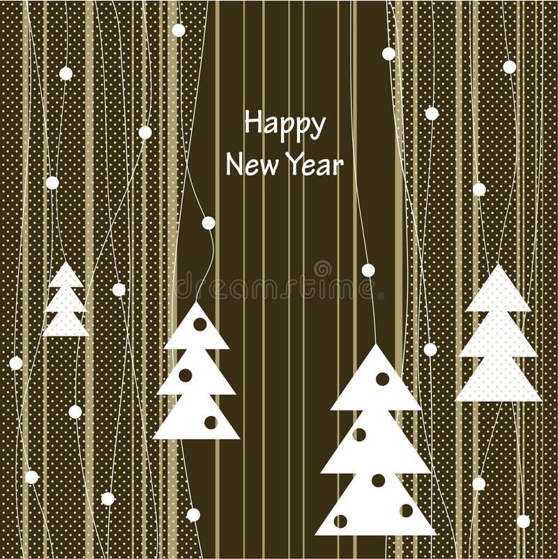 Diseño de la cubierta para las tarjetas de felicitación de la Navidad stock de ilustración